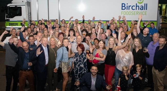 Staff and customers at the Birchall Foodservice 80th anniversary bash