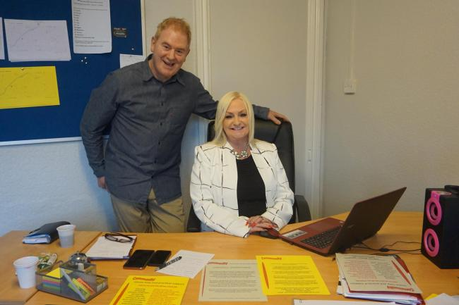 Ronnie Brown and Beverley Harris, of the new Blackburn-based Community Home Help CIC