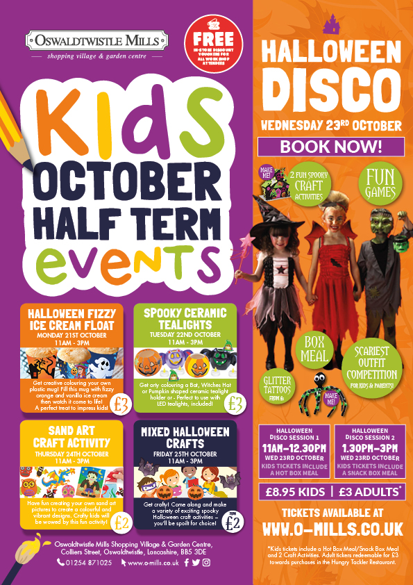 Halloween Events at Oswaldtwistle Mills
