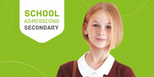 Secondary school admissions poster