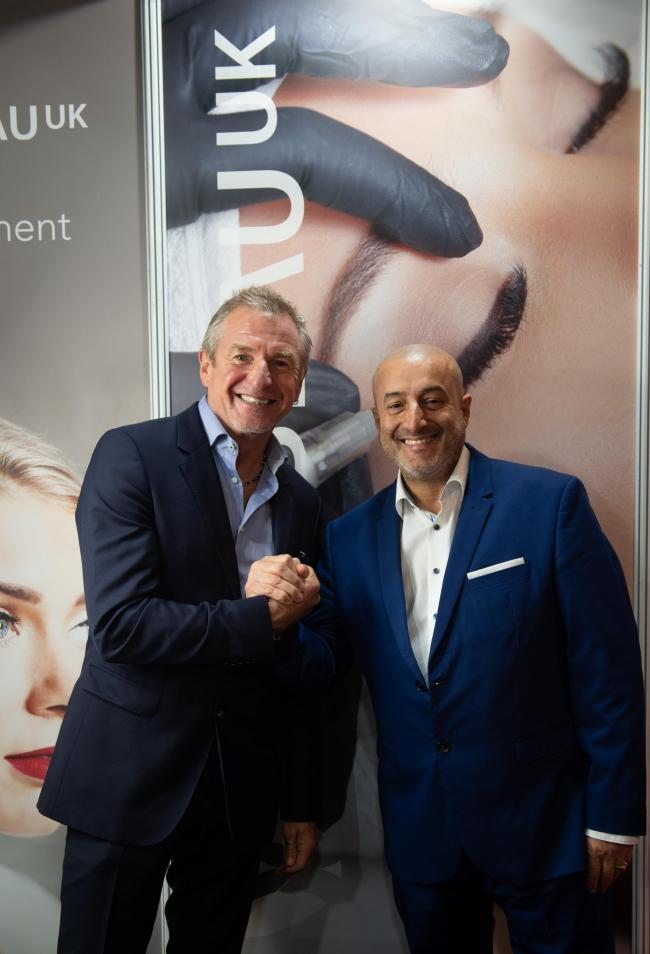 Joseph Lanzante with the founder of Purebeau, Dirk Hundertmark