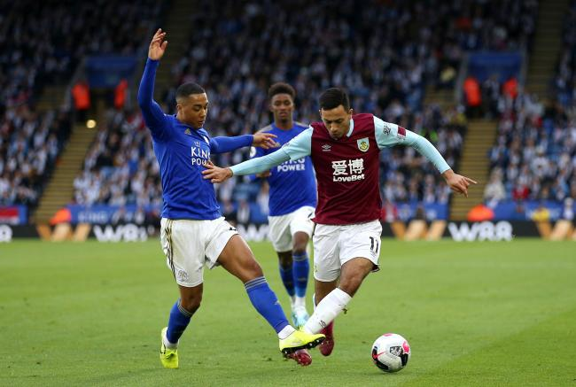 Burnley's Dwight McNeil in action at Leicester