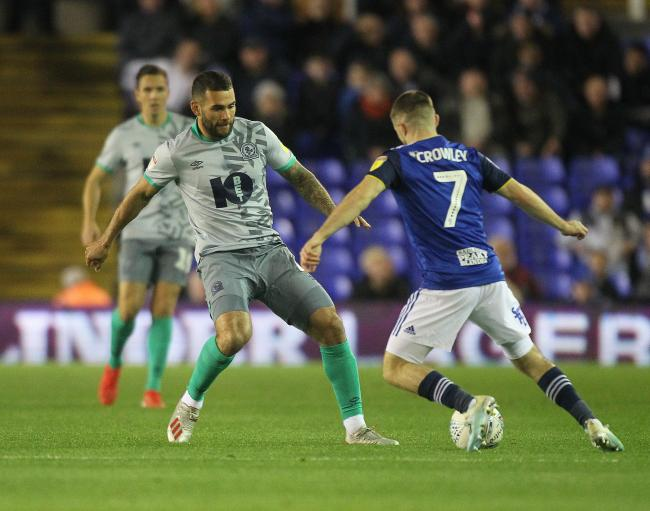 Bradley Johnson in action for Rovers against Birmingham