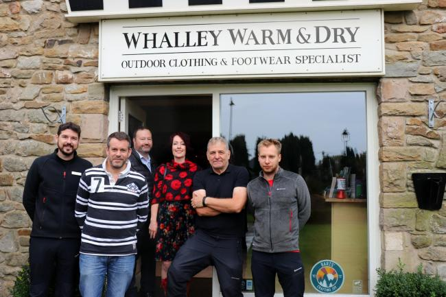Left to right Peter Squires (Whalley Warm and Dry); Paul Foster (FSB); George Lever (Knight Labels); Rachel Kay (lovelocal);  Jon Smith and Alex Smith (Whalley Warm and Dry)