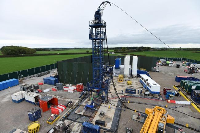 The Cuadrilla hydraulic fracturing site at Preston New Road shale gas exploration site in Lancashire