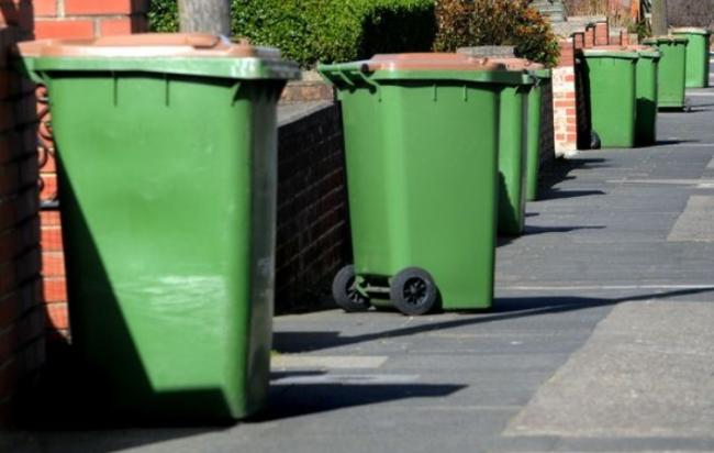 Image of Household Green Bins On Teesside, image taken by Evening Gazette, credit: Peter Reimann (Evening Gazette), attribution required, free for use by all BBC wire partners.