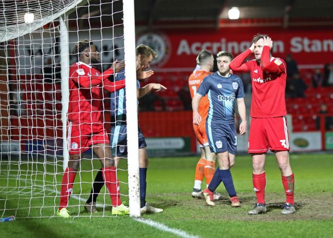 Stanley went out against Bury last season. Picture: KIPAX