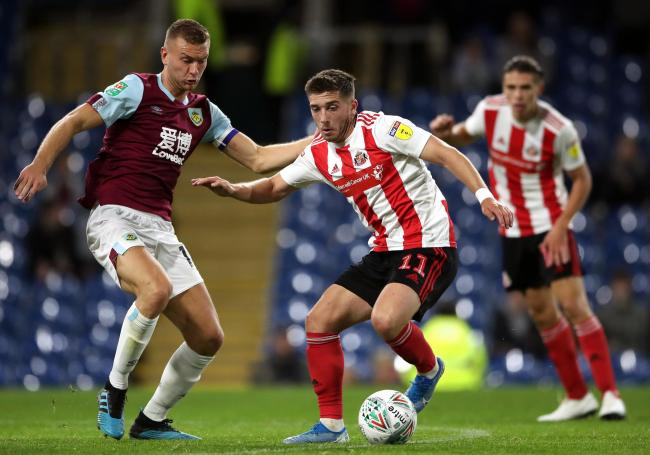 Ben Gibson's only Burnley appearance of the season came in the League Cup against Sunderland
