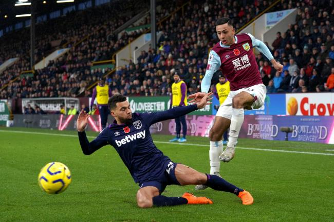 Dwight McNeil in action against West Ham