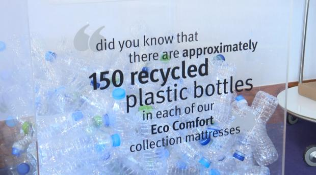 Lancashire Telegraph: 150 recycled bottles in the mattresses