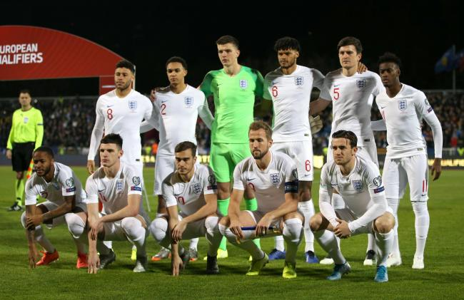 Nick Pope lines up with England