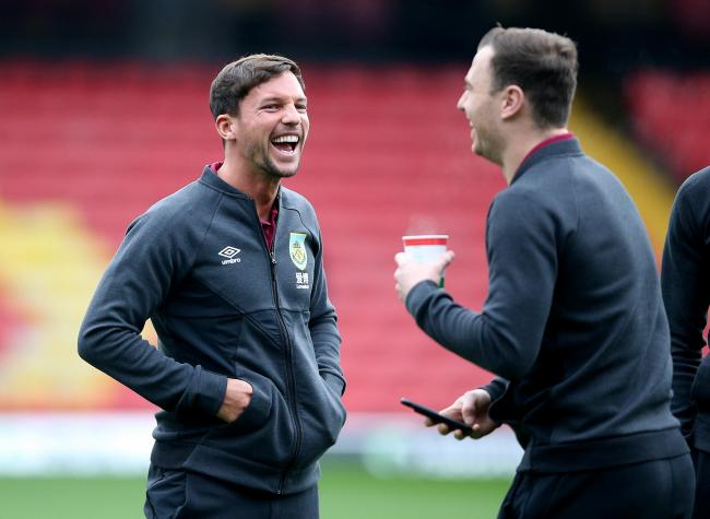 Danny Drinkwater shares a joke with Ashley Barnes ahead of Burnley's win at Watford