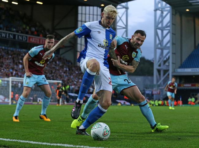 Ben Gladwin in action for Rovers against Burnley in August 2017