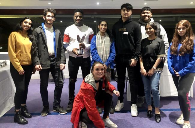 Prince's Trust Ambassador Hezron Brown (third left) was a key speaker at Blackburn with Darwen's Youth Takeover Challenge at Ewood Park this week – pictured with members of the Blackburn with Darwen Youth Forum