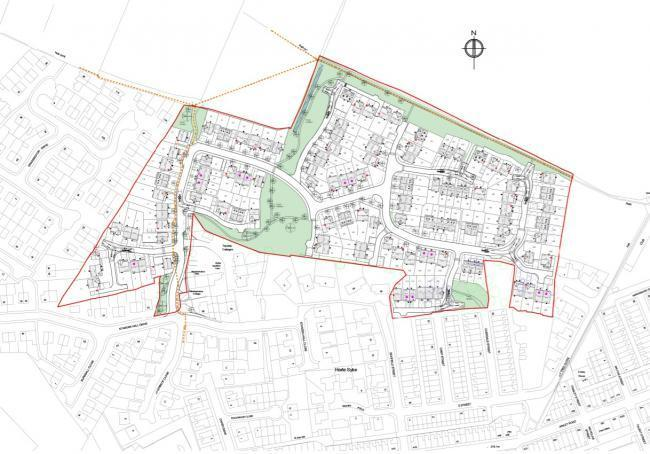 The proposed Standen Hill Drive development