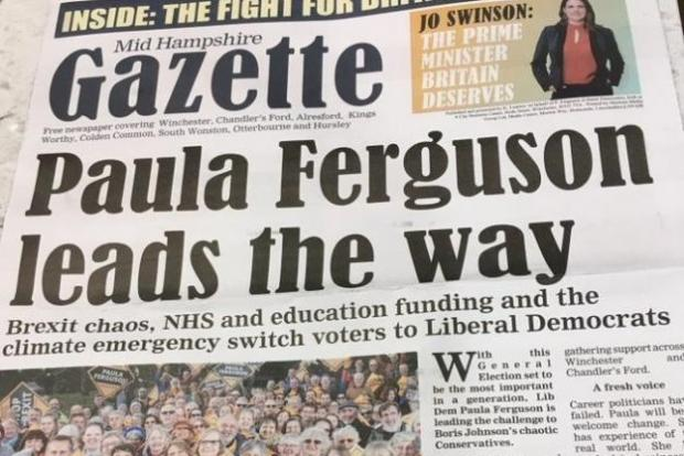 Lancashire Telegraph: One of the 'fake newspapers' produced by the Lib Dems