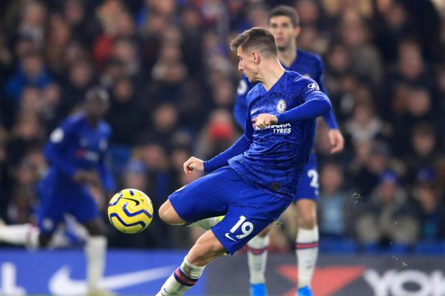 Mason Mount volleyed Chelsea's winner against Aston Villa