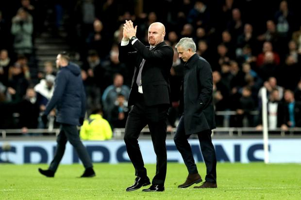 Sean Dyche and Jose Mourinho at the final whistle last Saturday