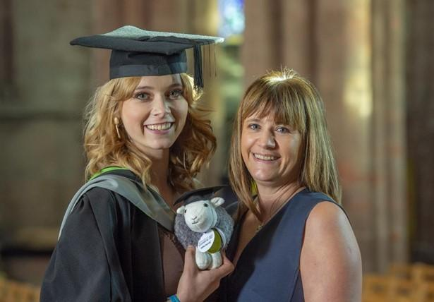 Laura Devaney, University of Cumbria drama and musical theatre graduate and her mother Sue, another alumni there