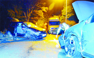 SMASH: The accident scene in Bacup