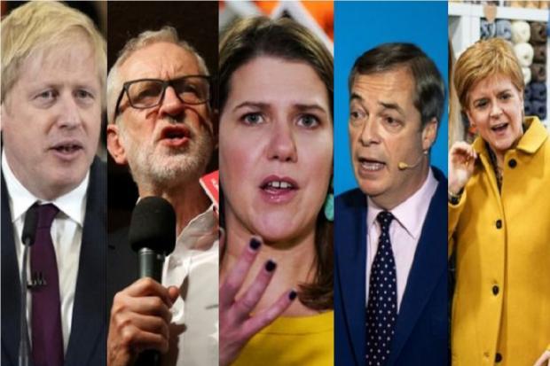 The leaders of the main parties for the General Election 2019