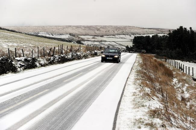 The Met Office has issued a snow and ice warning for East Lancashire