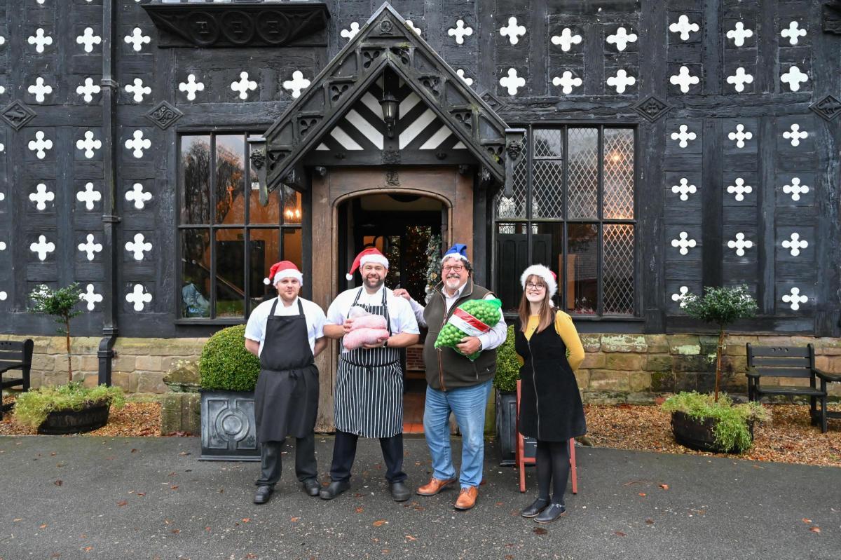 Samlesbury Hall's Christmas feast for Blackburn's homeless