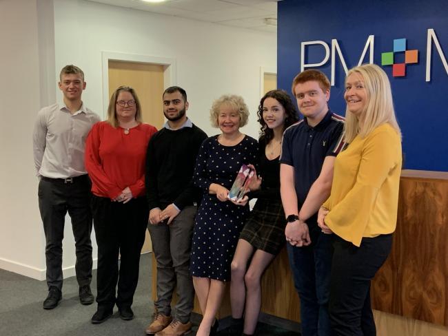 Blackburn payroll team picks up top service award