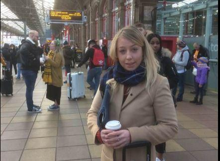 Sara Britcliffe MP setting off for Westminster from Preston Station.