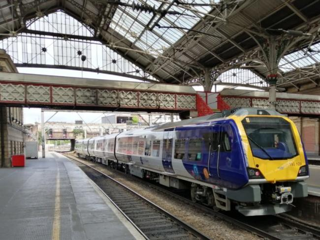One of the new Northern diesel trains at Preston