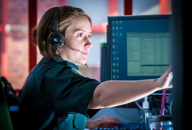 An emergency service call handler