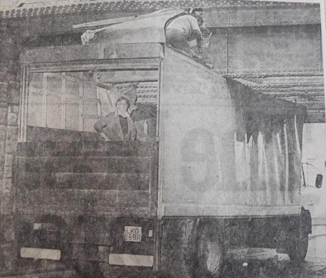 A lorry's roof peeled back like a sardine tin in November 1979 when it got wedged under a railway bridge in Accrington. The driver, Ernest Ousby from Colne, escaped unhurt, but cutting equipment had to be used to free the box van as police redirected