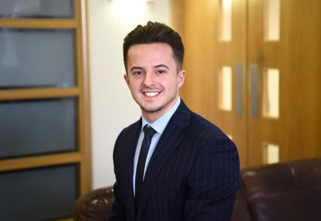 Daniel Burrows, a newly-qualified charterted accountant at Pierce in Blackburn