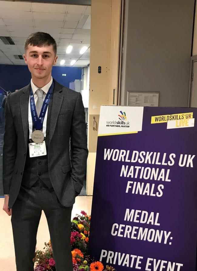 Kieran McShane, from WEC, who is heading to WorldSkills in Shanghai