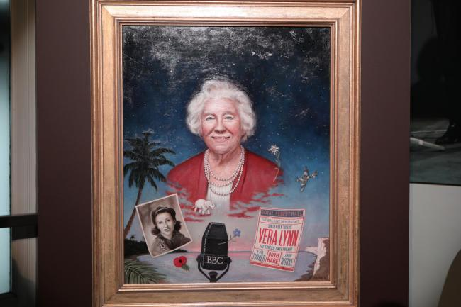 Dame Vera Lynn's painting at the Royal Albert Hall