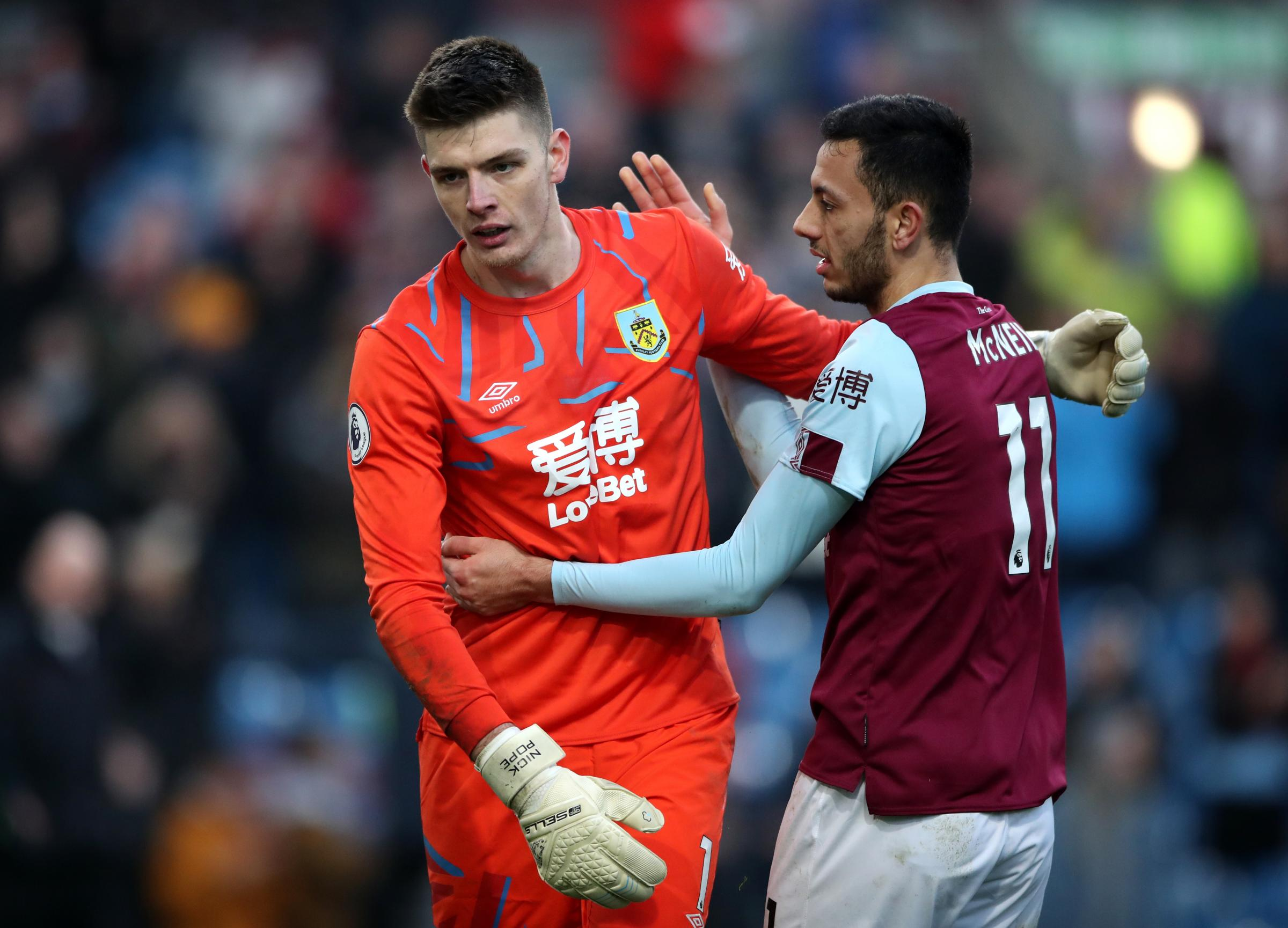 Nick Pope challenges Burnley to kick on against Man United