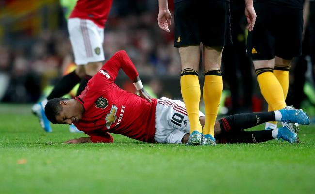 Marcus Rashford is set for a spell out with a back injury