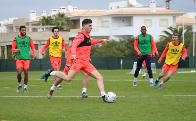 Joe Rankin-Costello is part of the Rovers squad who travelled to Portugal this week for a training camp