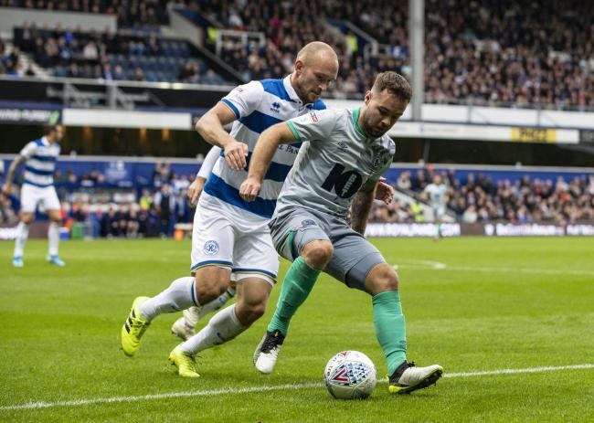 Adam Armstrong in action at QPR earlier in the season