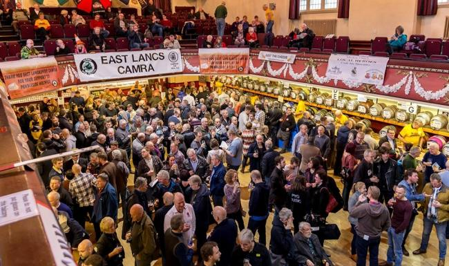Crowds enjoying the Pendle Beer Festival