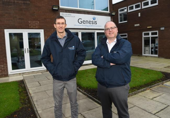Stuart Lee and Johh Cahill, of Genesis IT, which is looking to expand into Blackburn