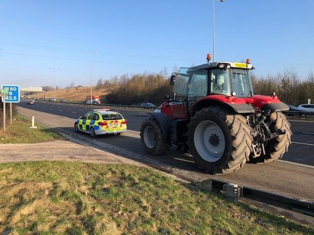This tractor was stopped on the M60