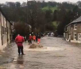 Flooding in the Ribble Valley during Storm Ciara