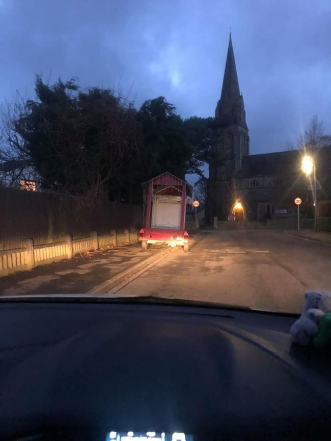 Clitheroe Round Table's Santa sleigh abandoned in Clitheroe