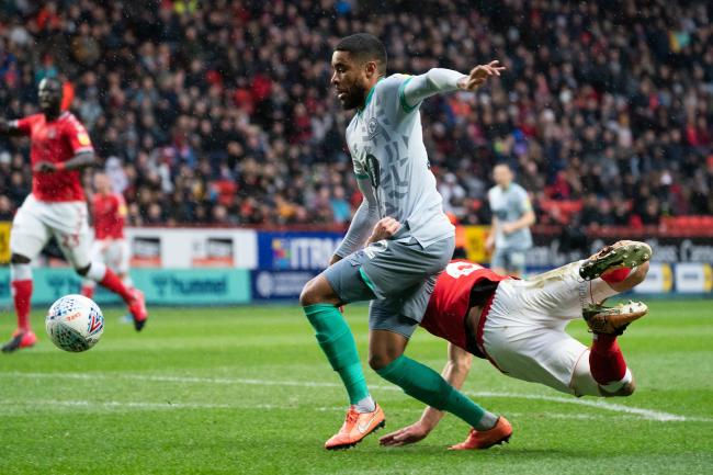 Rovers felt they should have had a penalty in the first half at Charlton Athletic