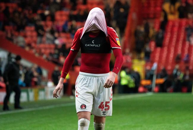 Alfie Doughty shows his disappointment during Rovers' win at Charlton