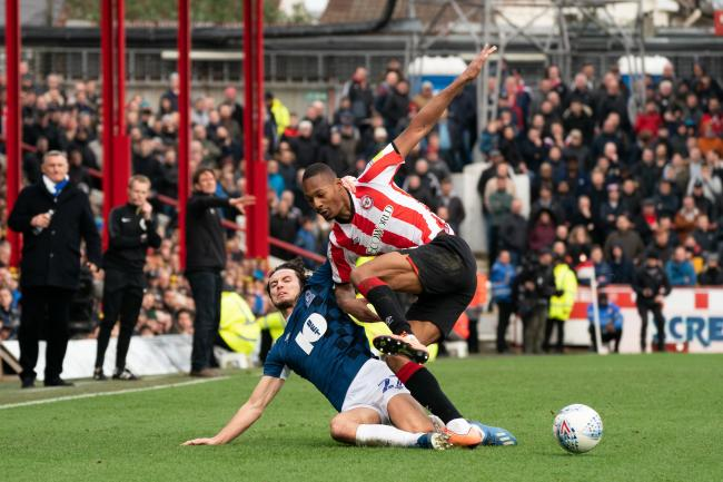 Lewis Travis and Ethan Pinnock battle for the ball in Rovers' draw with Brentford