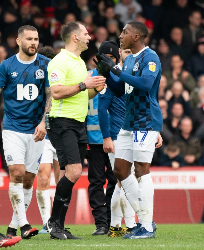 Rovers complain to Tim Robinson about the penalty awarded to Brentford