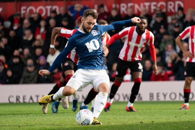 Adam Armstrong scored his third penalty of the season in Rovers' draw at Brentford