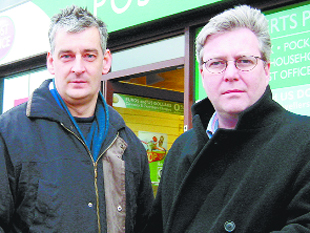 TAKING OVER: Graham Jones, left, has been chosen to succeed Greg Pope but has criticised his comments on Gordon Brown